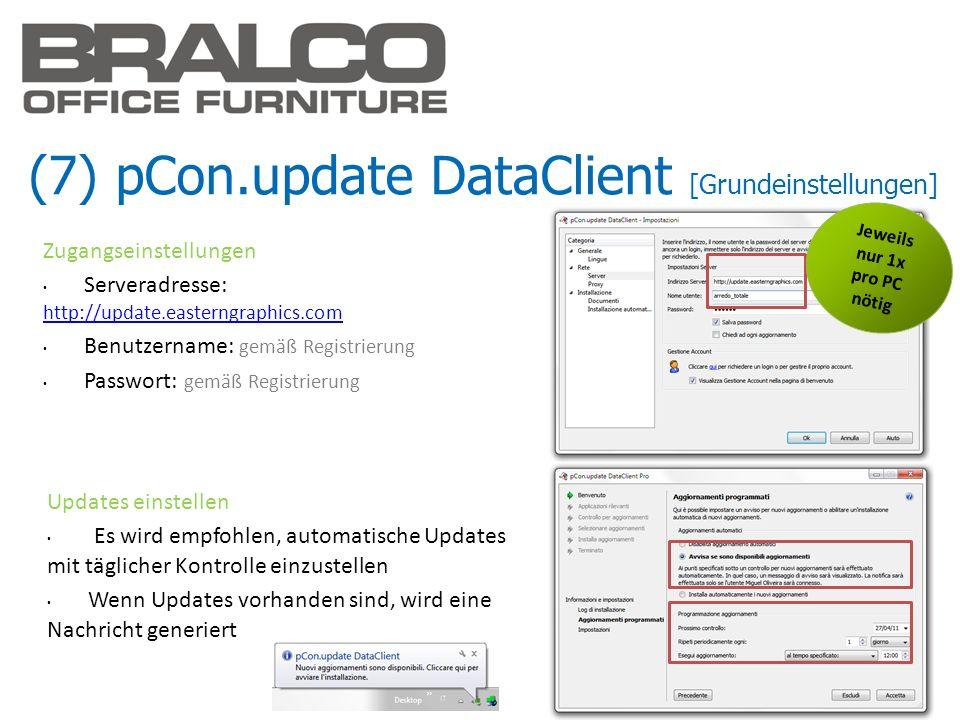 (7) pCon.update DataClient [Grundeinstellungen]